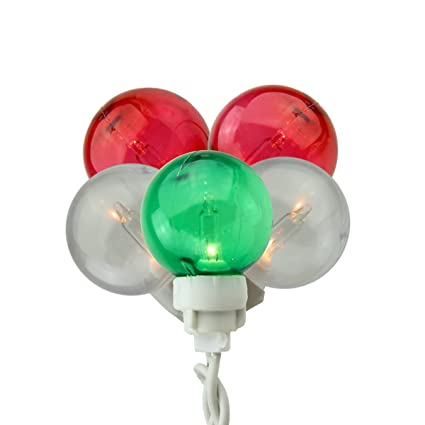 Amazon.com: Sienna Green Red and White G30 Globe Icicle Christmas ...