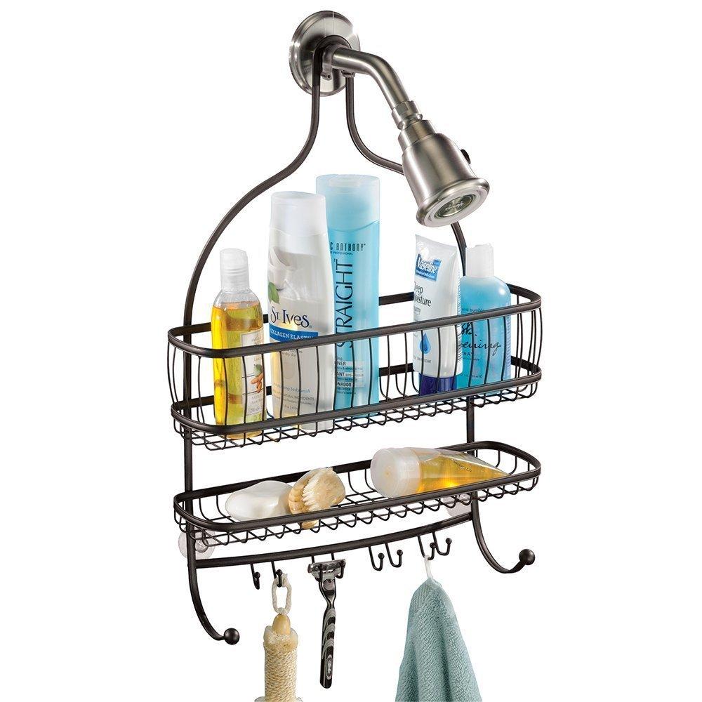 Amazon.com: InterDesign York Lyra - Bathroom Jumbo Shower Caddy ...
