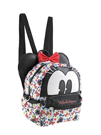 fdc992a99ab2 Amazon.com | 2-in-1 Minnie Mouse 8in Cross-body bag/ Mini Backpack ...