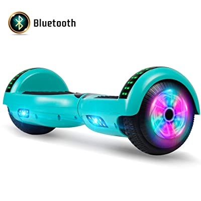 "FLYING-ANT Hoverboard with Bluetooth, Self Balancing Electric Scooter 6.5"" Two-Wheel Hover Boards with LED Lights for Kids and Adult-A02B Green: Sports & Outdoors"