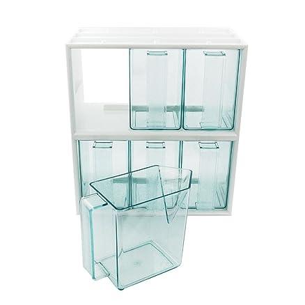 Cassettiera da cucina, con 6 cassetti, colore: bianco: Amazon.it ...