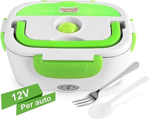 YISSVIC hornillo Eléctrico para Coche de Acero Inoxidable Portátil con Bandeja extraíble para Viajes pícnic Viajes de Trabajo ECC-Verde