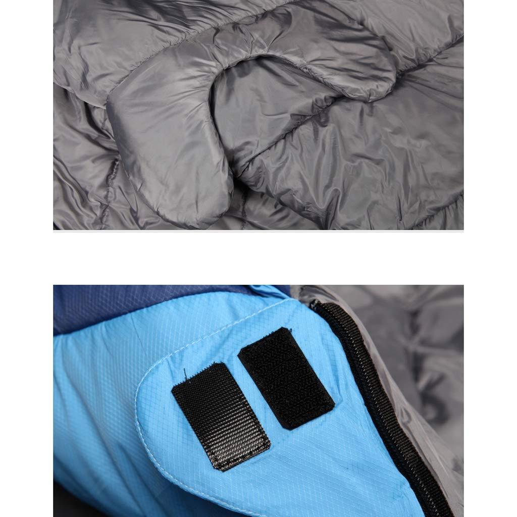 AX-outdoor AX-outdoor AX-outdoor products Single Schlafsack Mumie Stil Schlafsack Angepasst an Reisen bei -15 ℃ hohlen Baumwollfüllung Blaue Farbe 210  80 cm 1850 g B07JP7F466 Mumienschlafscke Direktgeschäft 71da21