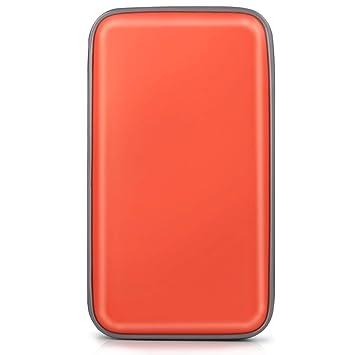 Bageek Porta CD Estuche CD DVD de 80 Disco DVD Bolsas Almacenamiento disco duro portátil (Naranja)