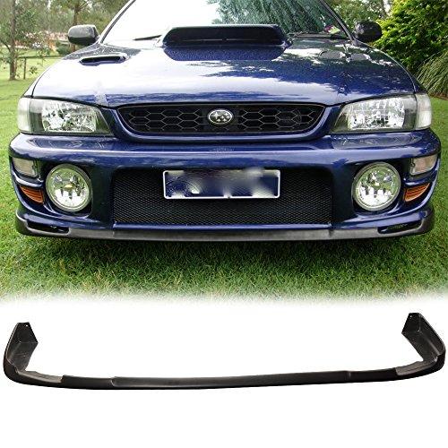 IKON MOTORSPORTS Front Bumper Lip Fits 1997-2001 SUBARU IMPREZA | STI Style PU Black