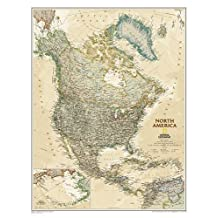 North America Executive, tubed Wall Maps Continents by National Geographic Maps published by National Geographic Maps Division (2012)