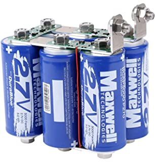 Amazon com: Maxwell DuraBlue car Audio Super Capacitor 2 7V 3000F