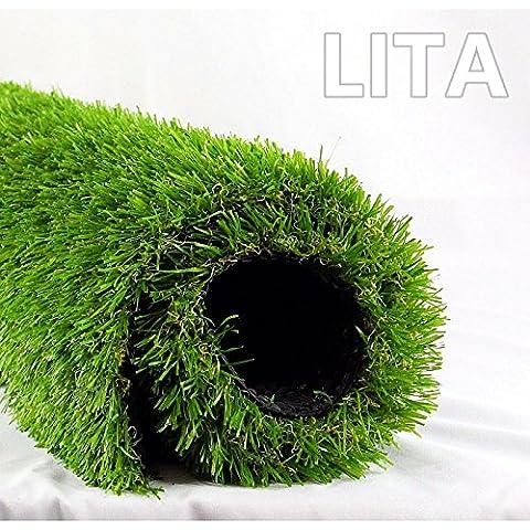 LITA Realistic indoor/outdoor Artificial Grass (28 in X 40 in) (Bench Cushion Indoor 40 Inch)