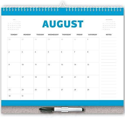 Calendario 2020 con marcador gratis, calendario de pared 2020 ...
