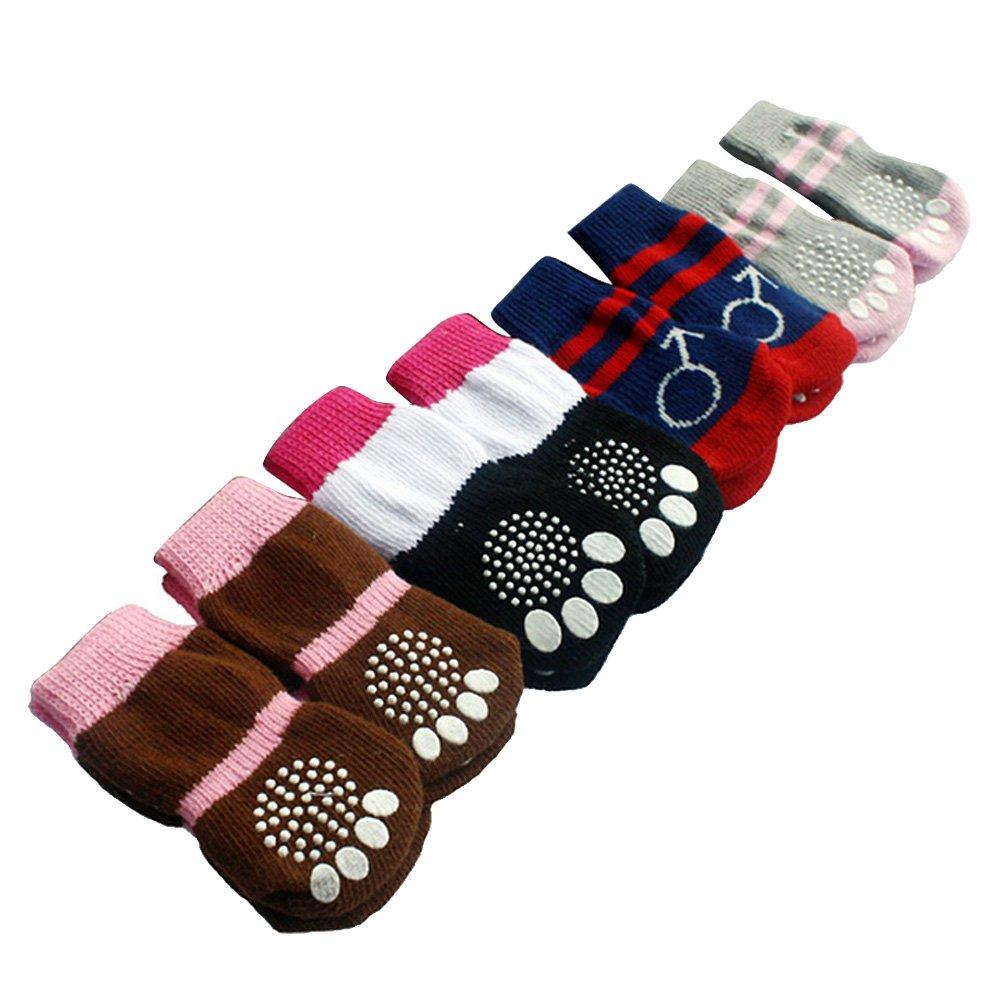 BEETEST Linda mascota Anti Slip elástico tejer calcetines para ...