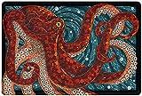 #10: Bamboo's Grocery Octopus Large Doormat, Backing Non Slip Outdoor Indoor Bathroom Kitchen Decor Rug Mat Welcome Doormat, 40cm60cm, Red and Dark Blue