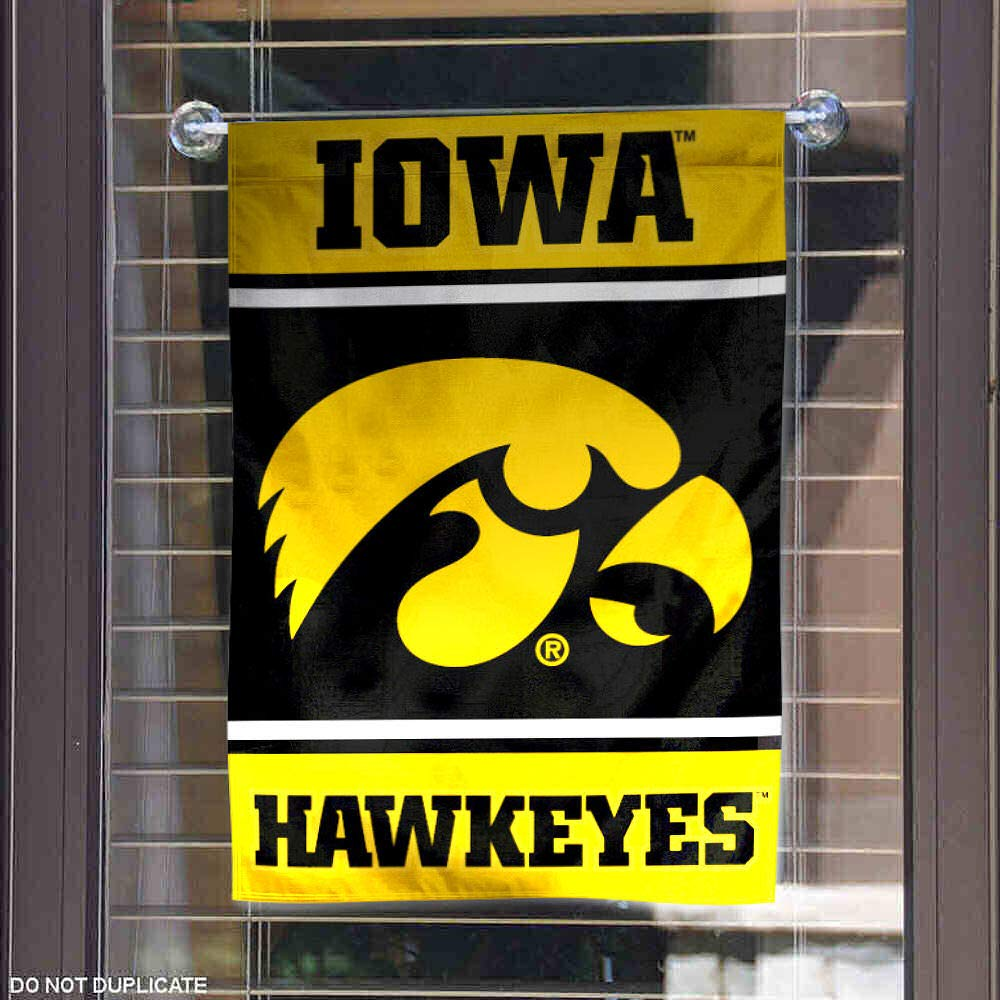 College Flags and Banners Co Iowa Hawkeyes Garden Flag