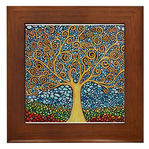 (CafePress - My Tree of Life - Framed Tile, Decorative Tile Wall Hanging)
