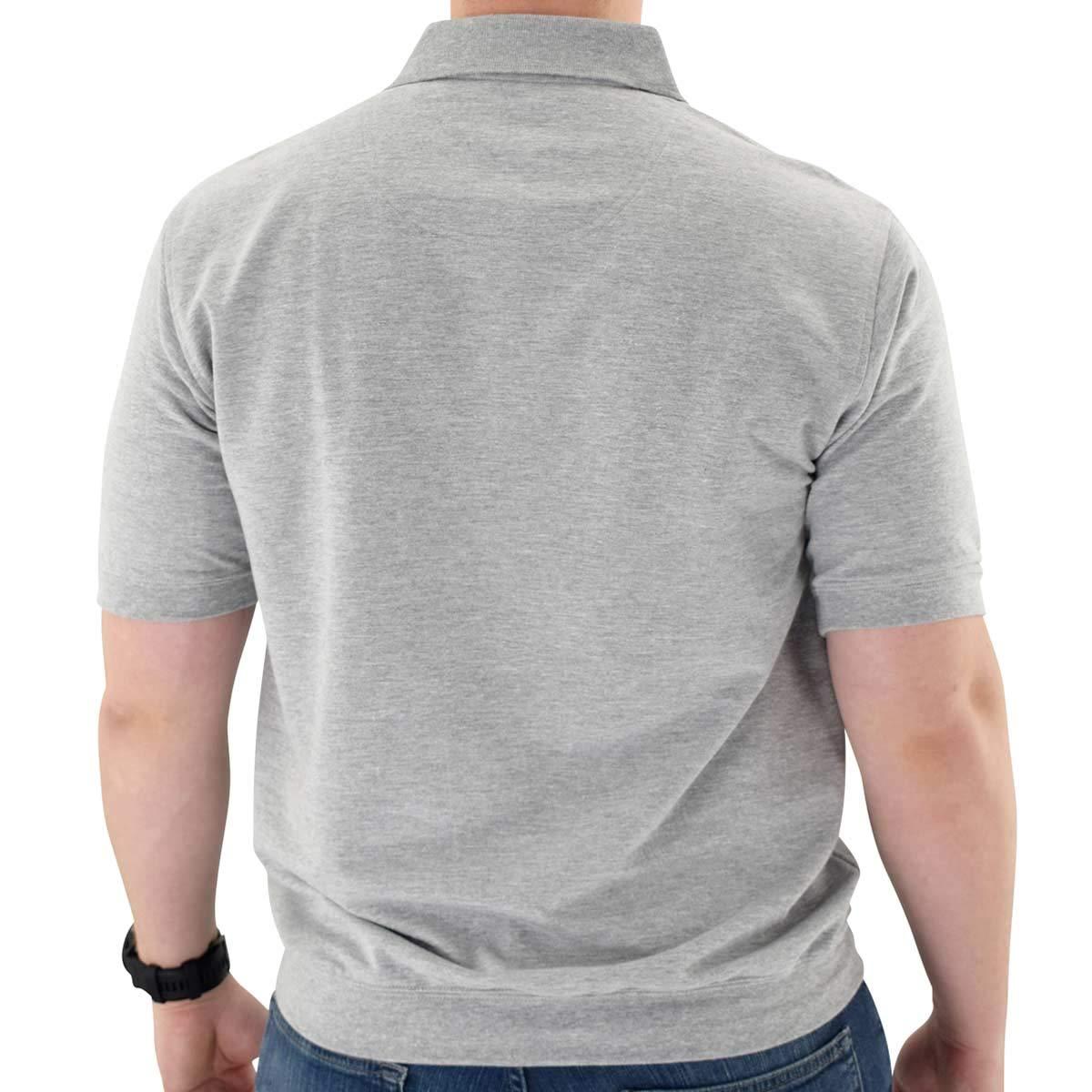 Classics by Palmland Short Sleeve Banded Bottom Shirt Big and Tall Grey HTH