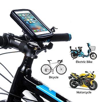 jinclonder Fahrrad Telefonhalterung Taschen wasserdichte Handyhalter Lenker Fahrrad Telefon Unterst/ützung St/änder Halterung f/ür Fahrrad Elektrofahrrad Motorrad
