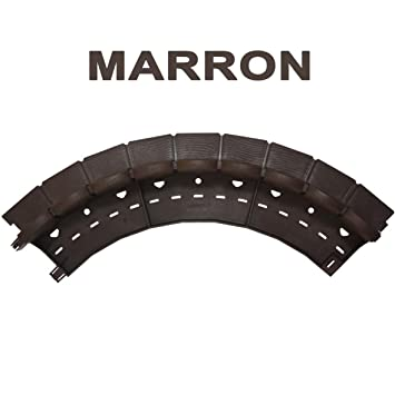Bordure de jardin en résine composite MARRON: Amazon.fr: Jardin