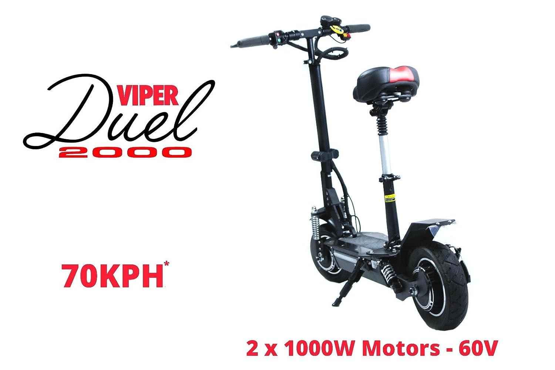 Viper - Viper Dual 2000 W 60 V - Scooter eléctrico con 2 ...