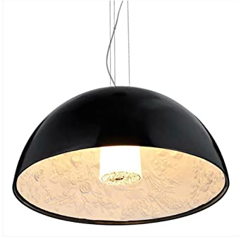 Cwill Moderne Pendelleuchte LED Leuchte Skygarden Anhänger Kuppel Harz Malerei  Esszimmer Hängeleuchte, Schwarz, Durchm