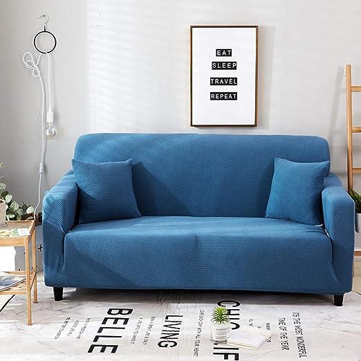 GX&XD Color sólido Espesar para Hacer Punto Funda de sofá ...