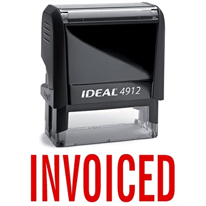 amazon com invoiced red office stock self inking rubber stamp