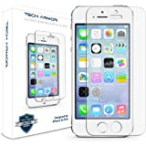 iPhone 5 Glass Screen Protector, Tech Armor Premium Ballistic Glass Apple iPhone 5C / 5S / 5 / SE Screen Protectors [2]