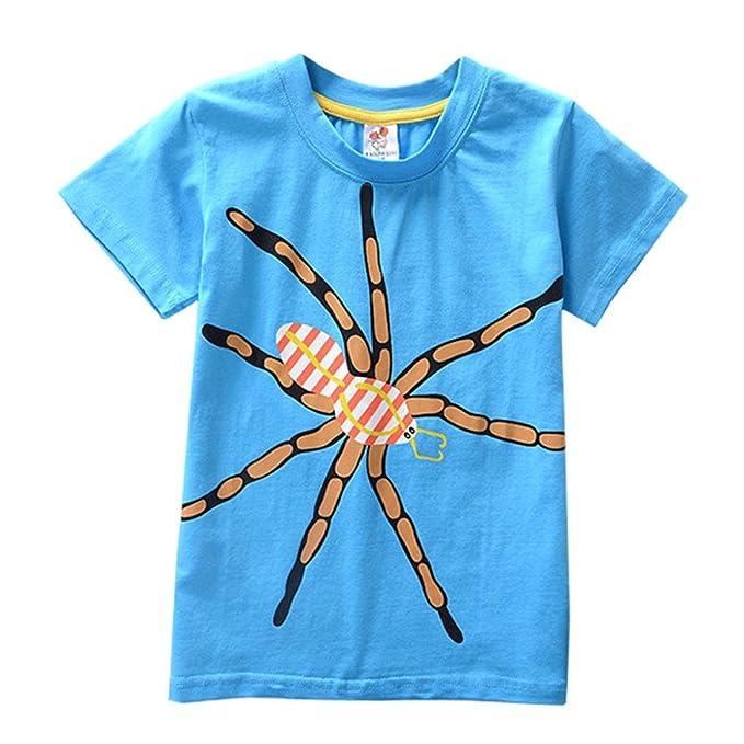 fa8d3b19dc PAOLIAN Ropa para Niños Babe para Verano Camisetas de cordones Manga corta  Camisetas Impresion de Animales