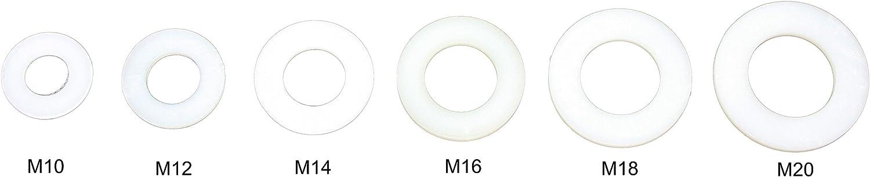 50, M18 Unterlegscheiben DIN 125 Polyamid PA 6 Kunststoff M2 M2,5 M3 M4 M5 M6 M8 M10 M12 M14 M16 M18 M20