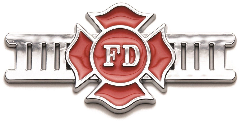 RoadSport 3406 Chrome Emblem Badgez FIRE FIGHTER Powerflow