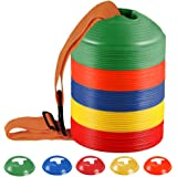 KEVENZ 50-Pack Soccer disc Cones,More Thicker,...