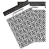 Poly Mailers 6x9 or 10x13 Size Options - Geometric Pattern – Pack of 100 Premium Unpadded Shipping Envelopes (10x13)