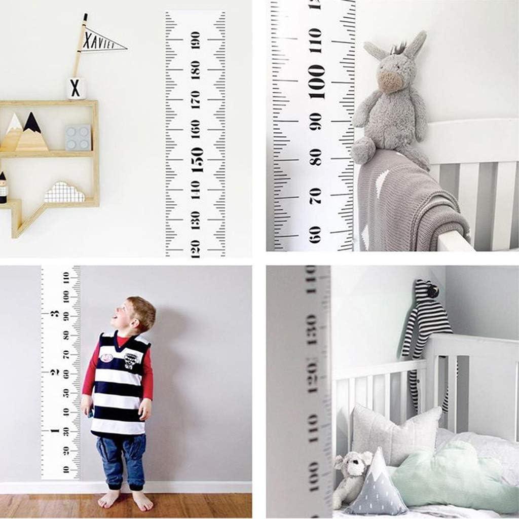 Animal Pr/écise D/écoration Chambre B/éb/é D/écoration Murale Amovible 20 x 200 cm Toile Imperm/éable Manyo Toise Murale Enfant /à Suspendre