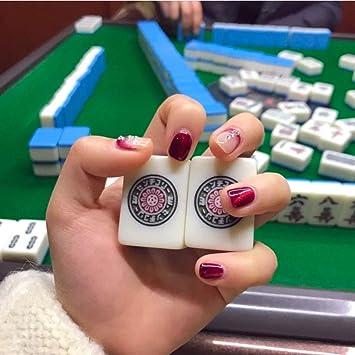 Mahjong Chino Clásico de Imitación de Marfil Mahjong, Juego de Viaje Portátil Mahjong, Dormitorio Mahjong Juegos de Mesa Tradicionales, Adecuado Para Regalos Del Festival de Los Jóvenes Para Mamá: Amazon.es: Juguetes y