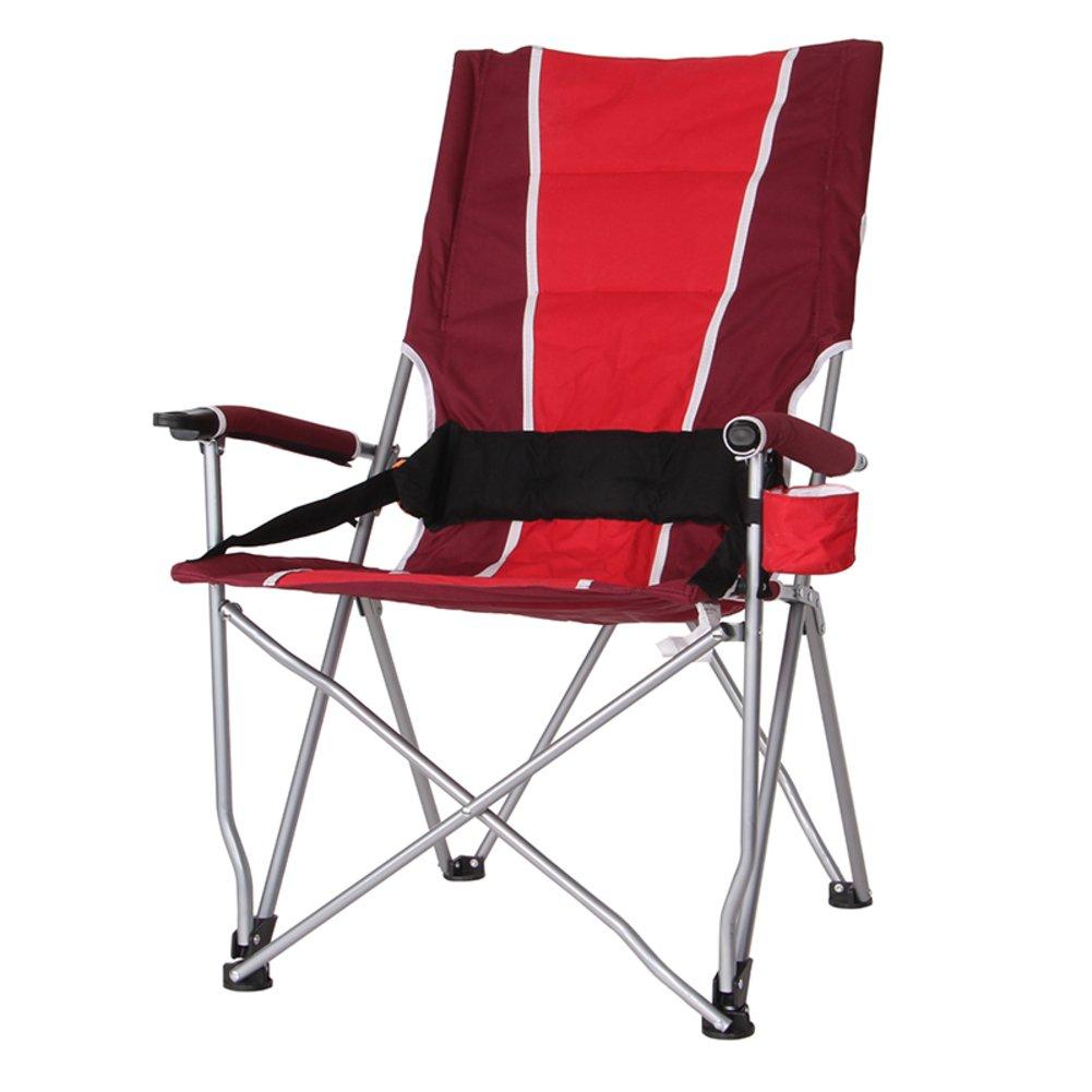 HM&DX Roady 狼アウトドア折りたたみ椅子の高バック レジャー釣り椅子折りたたみスツール自走式ビーチ テーブル バーベキューとポータブル椅子します。 B07CYFNJGW レッド レッド