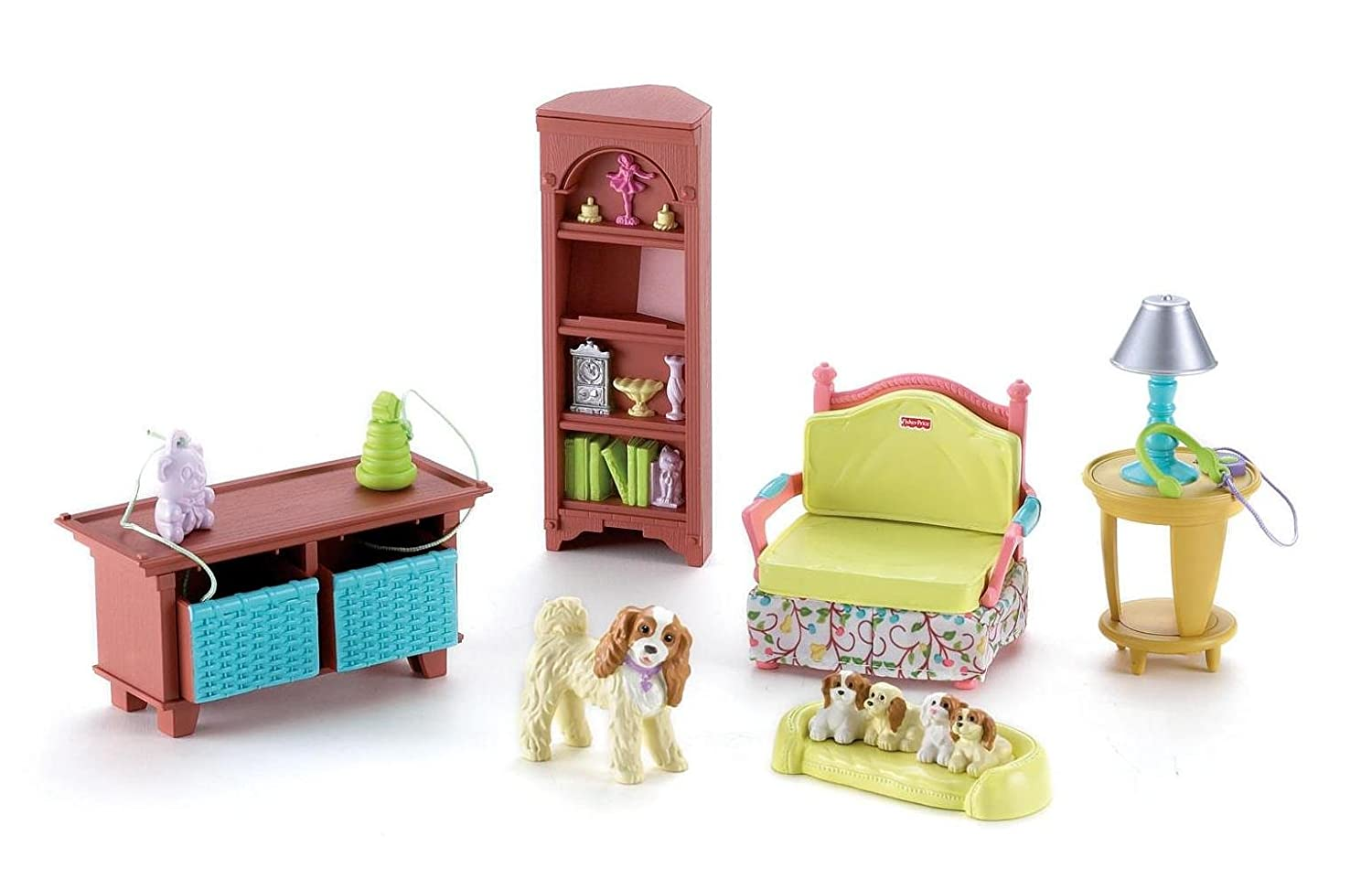 Fisher price doll house furniture - Amazon Com Fisher Price Loving Family Loving Family Living Room Toys Games