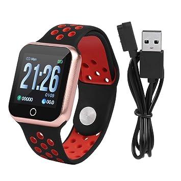 Zerone Fitness Tracker podómetro Smartwatch presión Arterial Ritmo cardíaco Monitor IP67 Impermeable Fitness Reloj Contador de Pasos Pulsera para ...