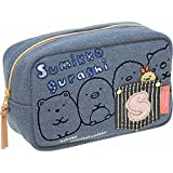 San-X Sumikko Gurashi Denim Series Cosmetic Pouch Case CT90201 (Blue denim)
