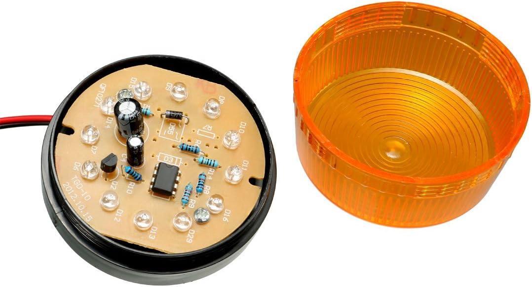 Gelb uxcell Warnlicht Rundumindustrie Signal Alarmturm Lampe LTE-5061 12 V