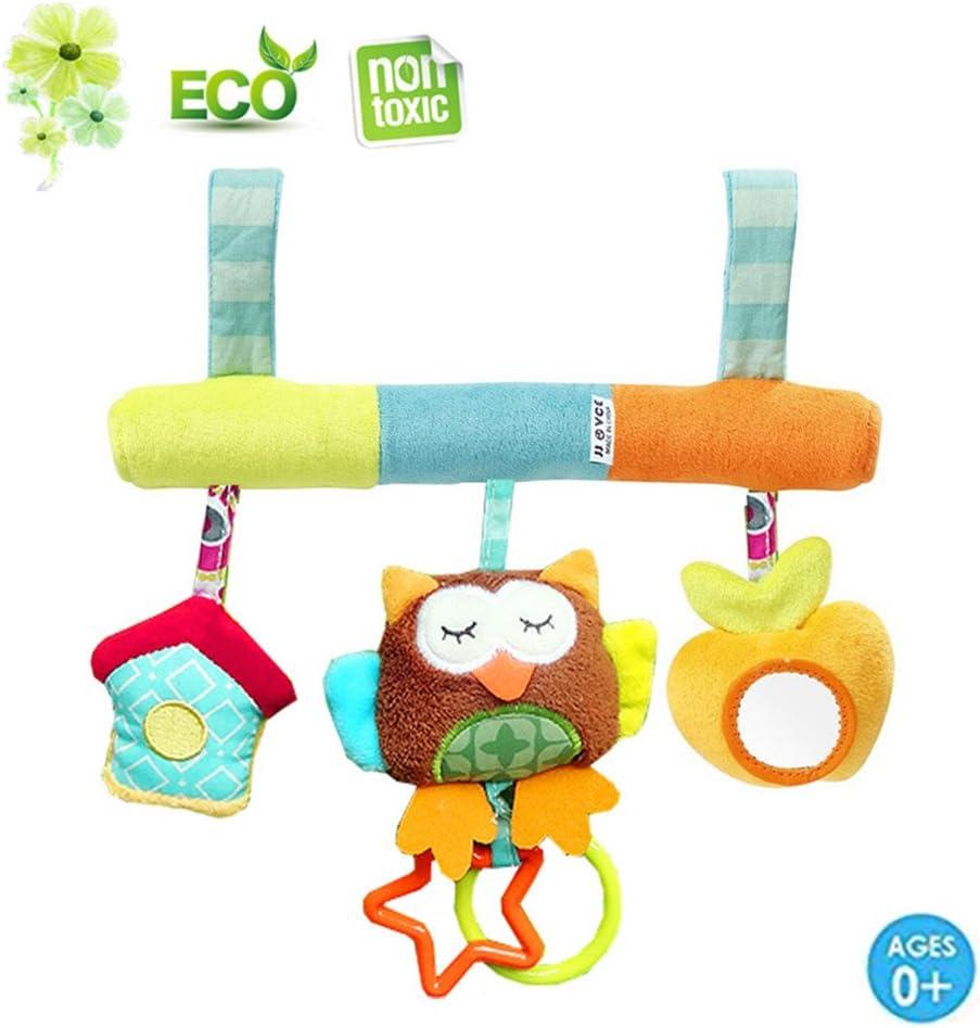 Elefant Morbuy ab 0 Monate Ma/ße Kleinkindspielzeug Beschwichtigen Schlaf Spielzeug//Kinderwagen//Bett//der Spielzeugauto-Drehmaschine h/ängenden Baby Rasseln 26cm lang 25