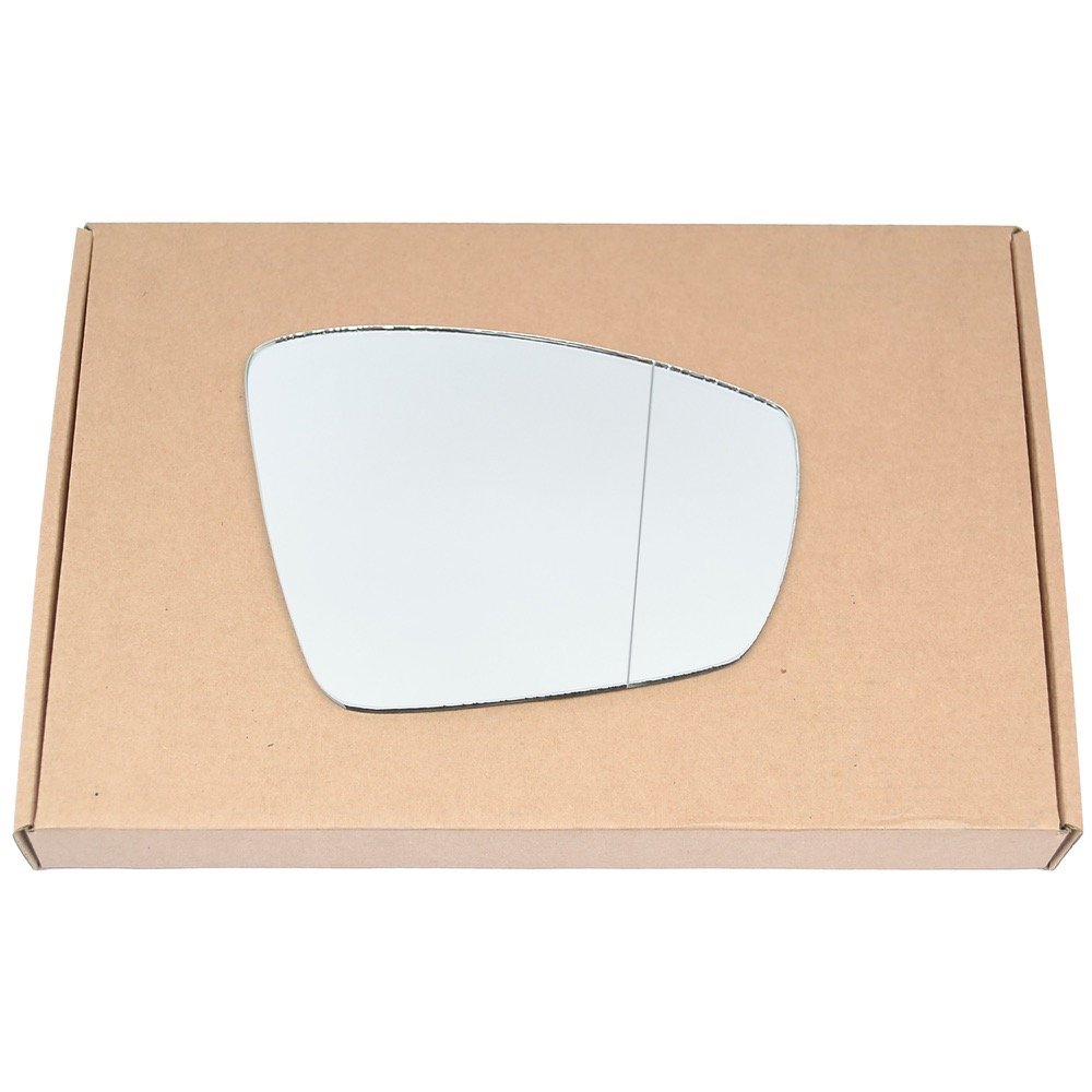 Wide Angle Right driver side Silver Wing mirror glass # VWPol/i05-2016350/590 Less4Spares