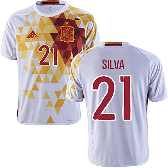 adidas Silva #21 EURO 2016 Spain Away Jersey (XS)