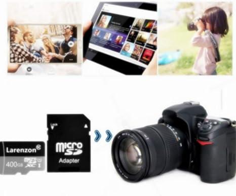 Larenzon Micro SD Tarjeta 400 GB, microSDXC 400 GB Class 10 Tarjeta de Memoria + Adaptador SD (N150-X1) (400GB)