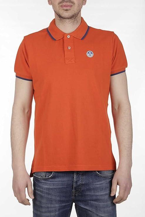 North Sails Polo Man 694431 0020 Polo S/s W/print - Orange: Amazon ...