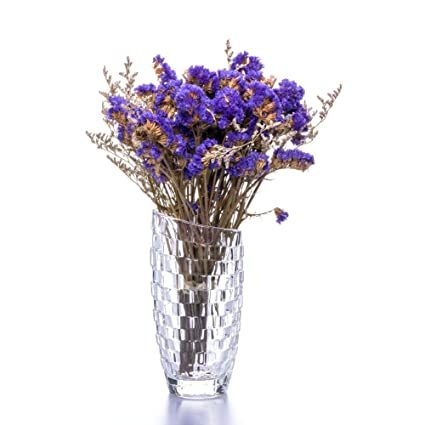 Amazon Flower Vase Glass Thickness Design Clear Crystal Vases