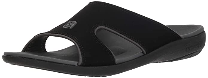Spenco Men Kholo Plus Slide Sandal, Carbon/Pewter, 10 Medium US best men's supportive sandal
