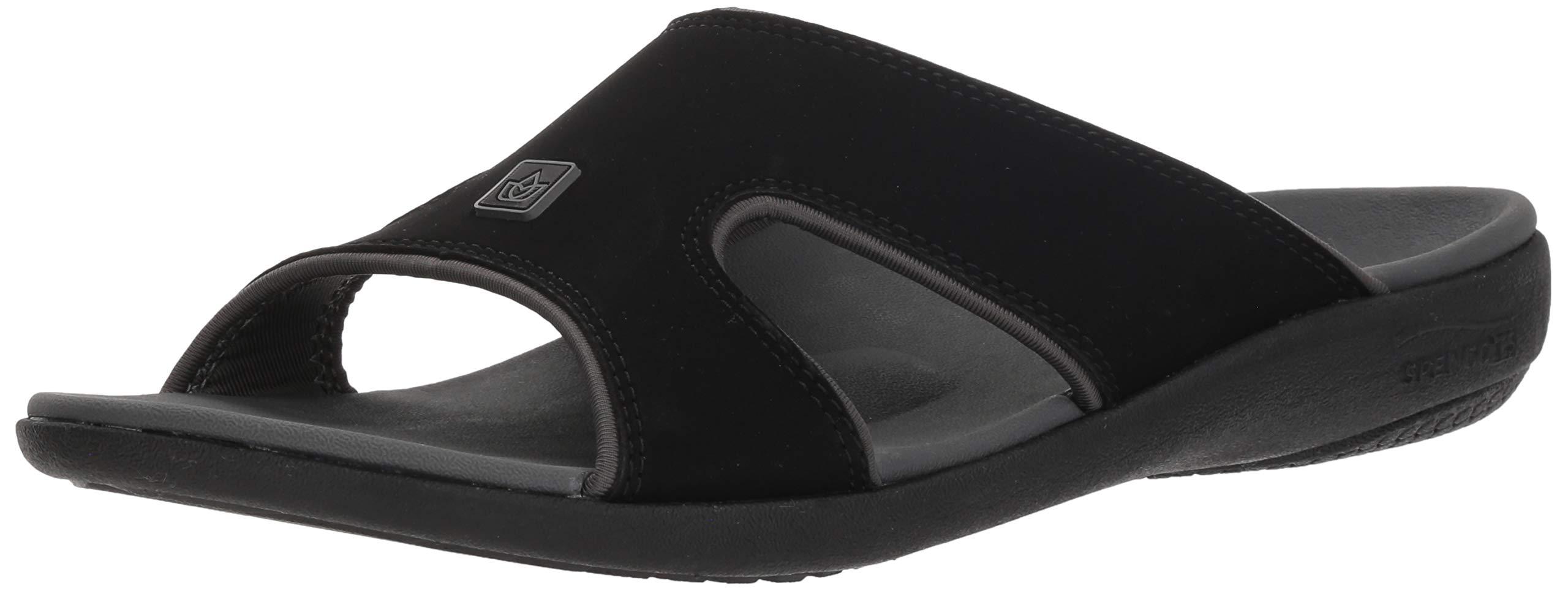 Spenco Men's Kholo Plus Slide Sandal, Carbon/Pewter, 14 Medium US