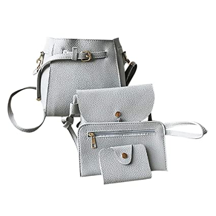 iShine 4PCS Set Women Simple Korean Style Fashion Trend All-Matched Shoulder  Bag Travel Handbag 6b9cf09937337