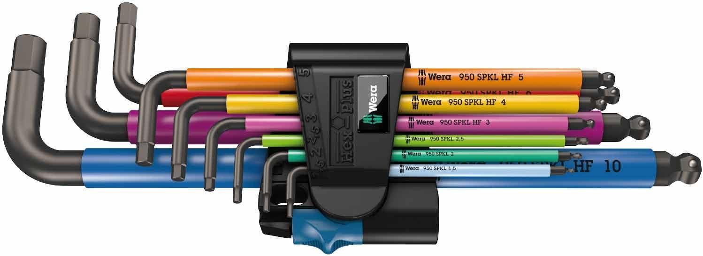 Wera 05022210001 Juego de Llaves Acodadas Métricas con 9 Piezas, Multicolor, 4 mm, 5 mm: Amazon.es: Bricolaje y herramientas