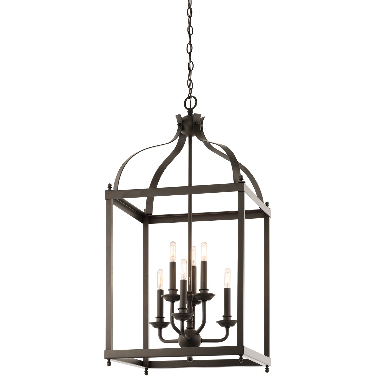 Kichler 42568oz larkin foyer chandelier 6 light olde bronze kichler 42568oz larkin foyer chandelier 6 light olde bronze ceiling pendant fixtures amazon aloadofball Images