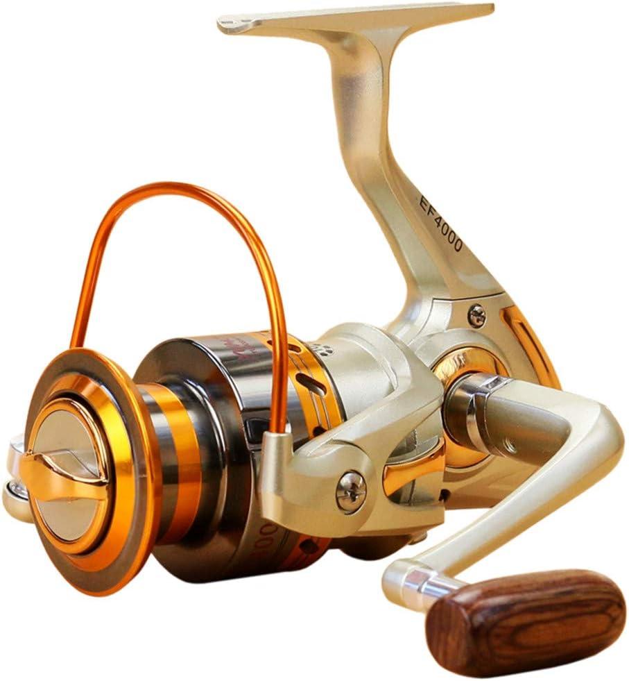 EF500-EF9000 Spinning Fishing Reel 12BB Metal Spool Folding Arm Left Right Hand