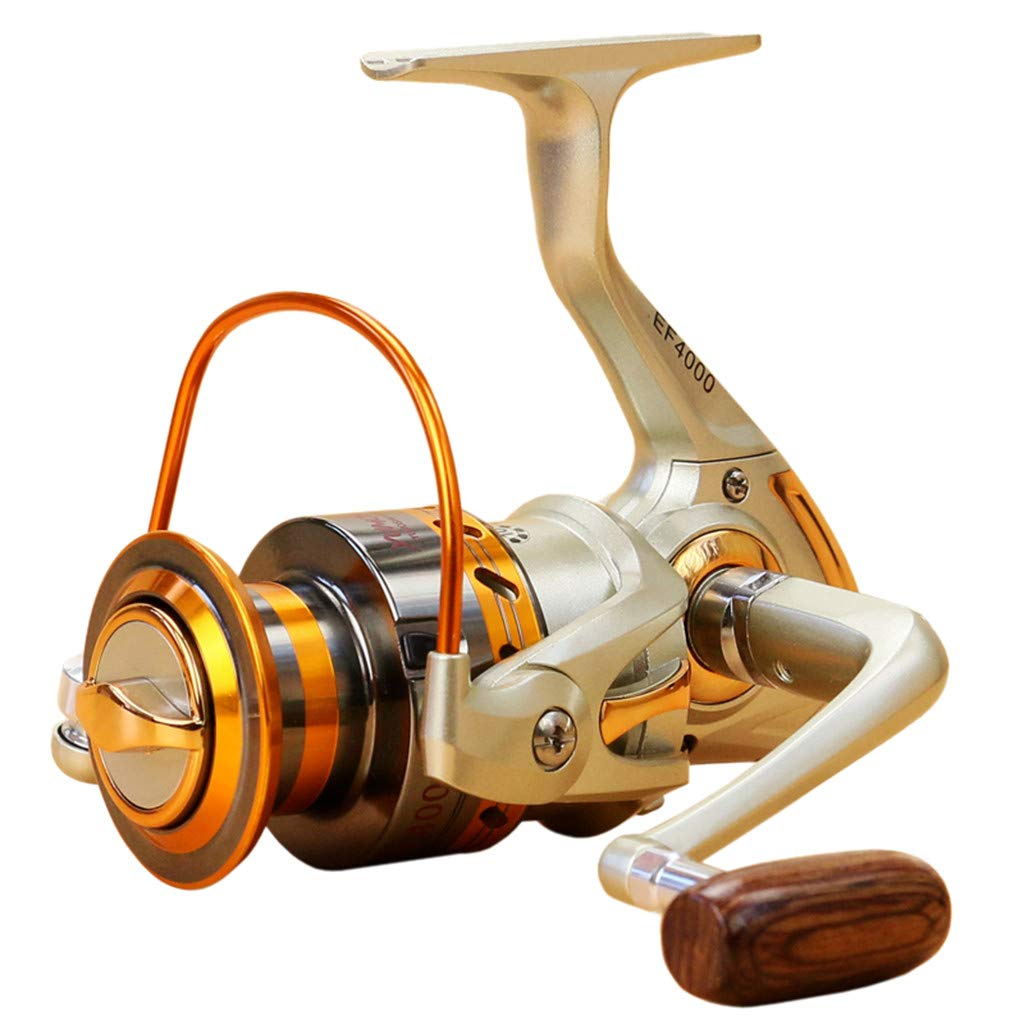 SMyFone Spinning Fishing Reel 12BB Metal Spool Folding Arm Left Right 5.2:1 for YUMOSHI EF500-EF9000